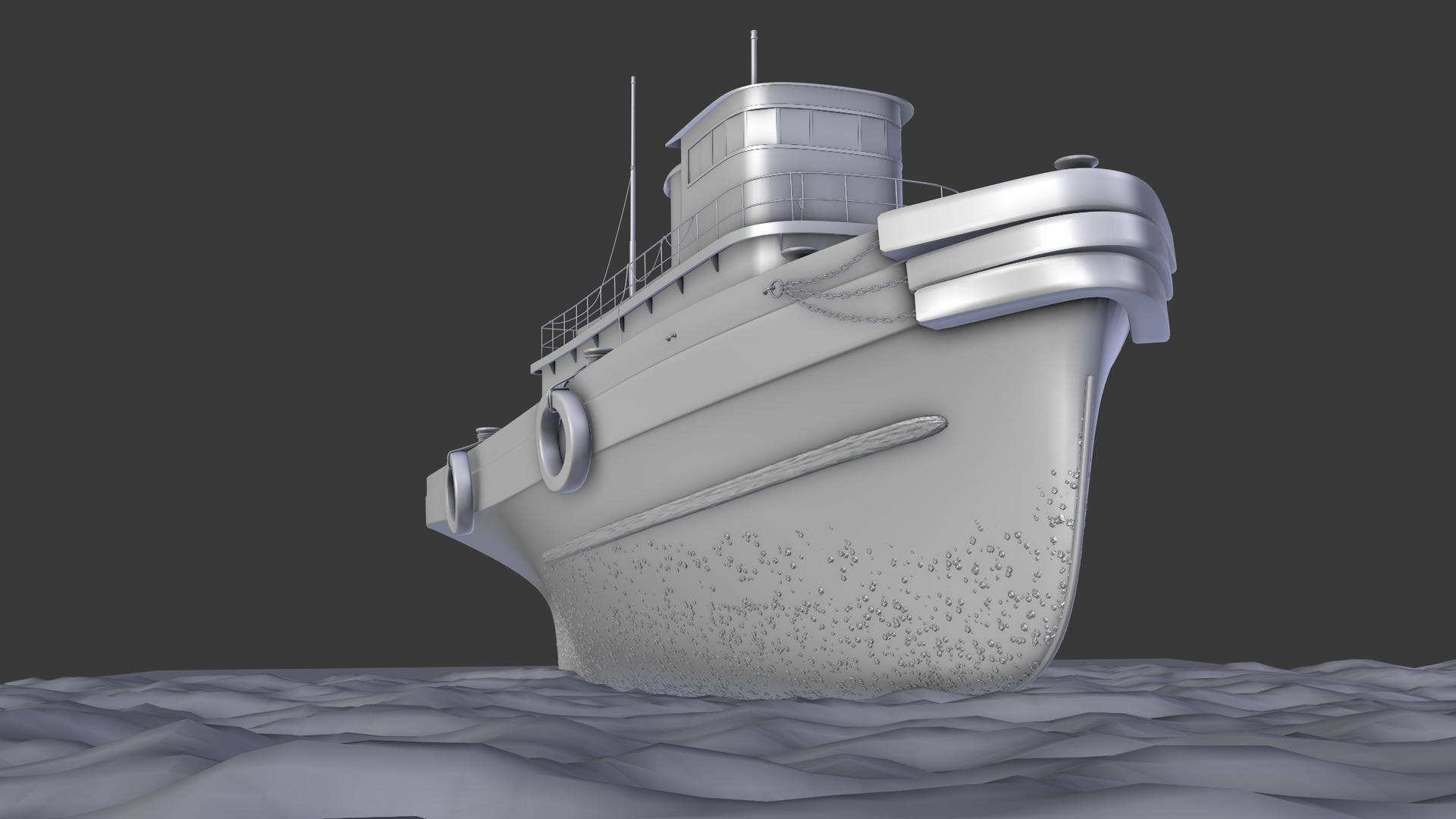 old tugboat opengl render