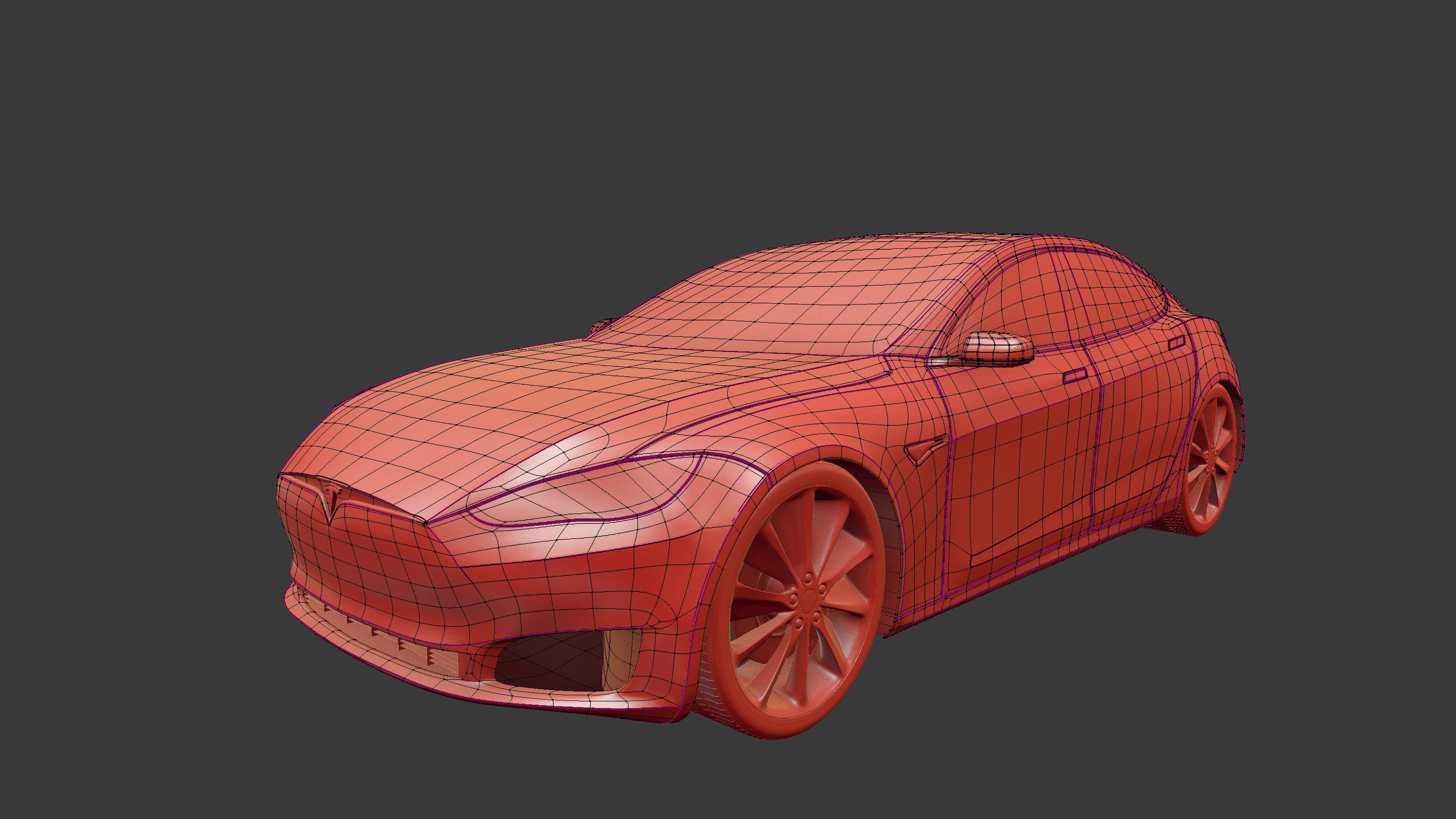tesla model s opengl render